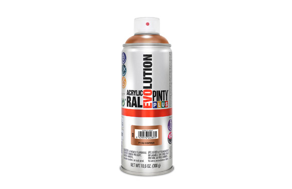 Pintura spray acrilica brillo 520 cc p152-cobre