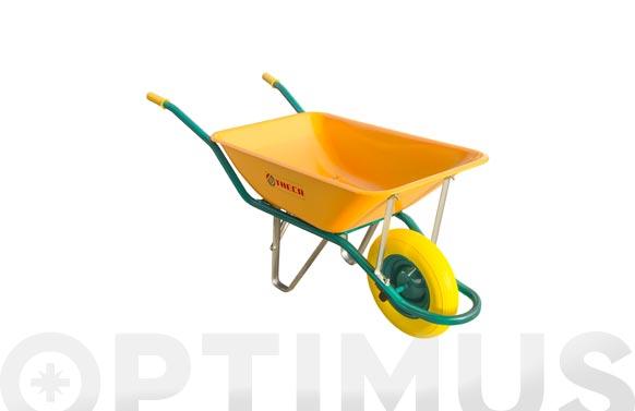Carretilla metalica amarilla ligera c1/550-90 l rueda impinchable