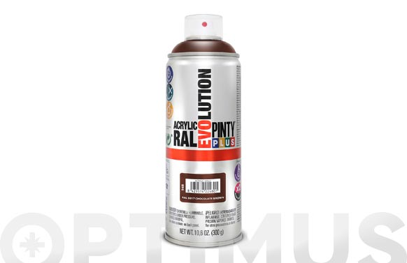 Pintura spray acrilica  520 cc ral 8017 marron