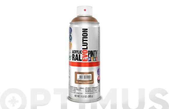 Pintura spray acrilica brillo 520 cc ral 8025 marron