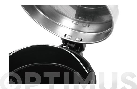 Cubo pedal metalico serene  5 l-acero mate