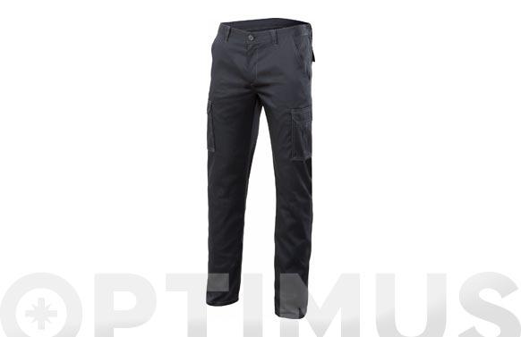 Pantalon multibolsillos stretch t 40 negro