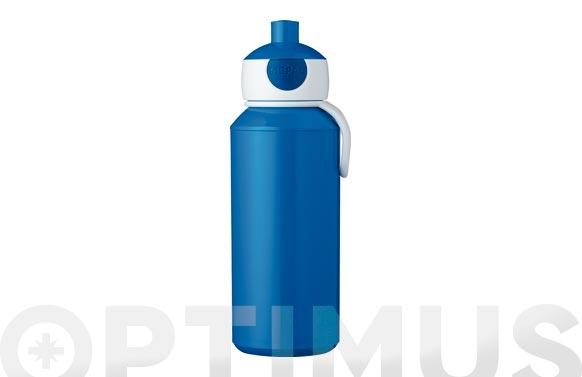 Botella pop-up campus 400 ml azul