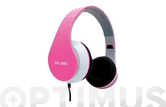 Auricular diadema plegable rosa