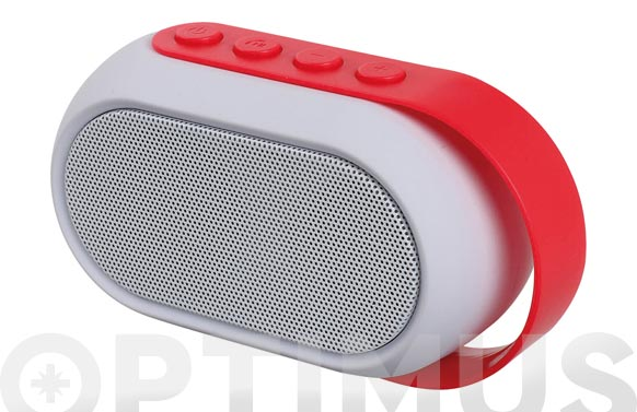 Altavoz bluetooth rojo
