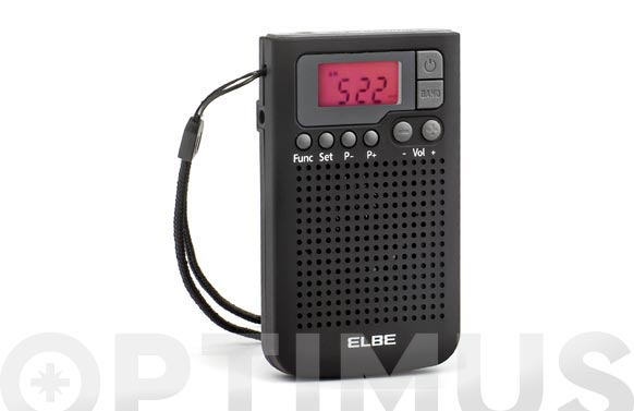 Radio digital de bolsillo con altavoz