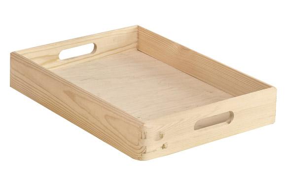 Caja madera de pino 40 x 30 x 7 cm