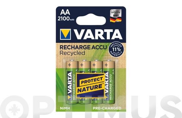 Pila recargable recycled (bl.4) aa 2100 mah