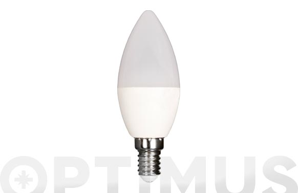 Lampara led vela 480lm e14 6w calida