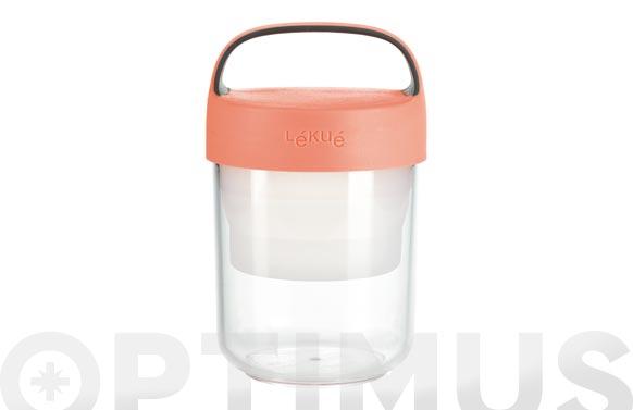 Contenedor alimentos jar to go 400 ml coral