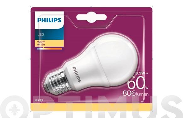 Lampara led standar e27 8,5w luz calida