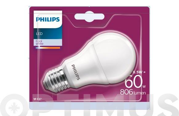Lampara led standard e27 60 w luz fria