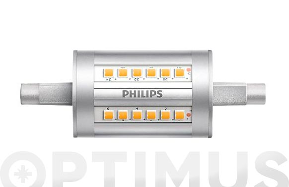 Lampara led lineal 78mm r7s 7,5w calida