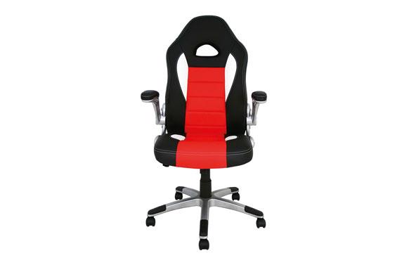 Silla oficina gaming victoria negro / rojo