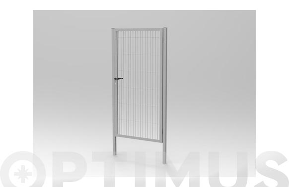 Puerta malla electrosoldada galvanizada 1-h 980 x 1580 mm