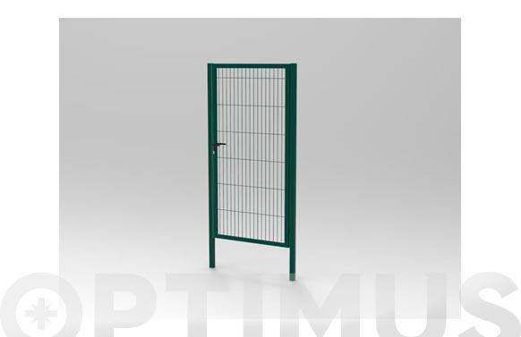 Puerta malla electrosoldada plastificada verde 1-h 980 x 1580 mm