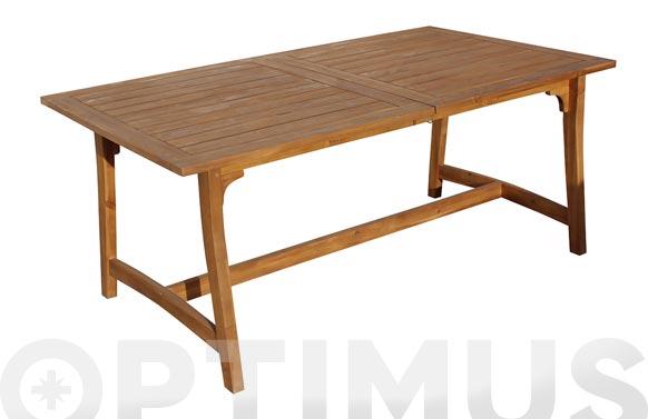 Mesa madera extensible acacia 180/240 x 100 cm