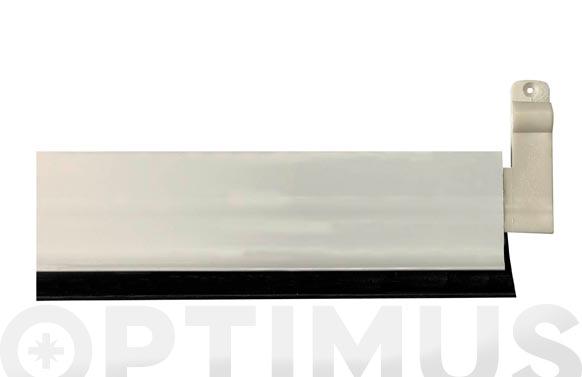 Burlete bajo puerta aluminio/goma basculante 93 cm blanco