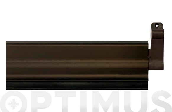 Burlete bajo puerta aluminio/goma basculante 93 cm bronce