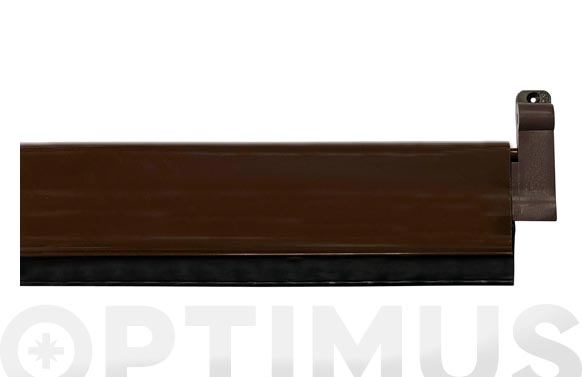 Burlete bajo puerta aluminio/goma basculante 93 cm marron