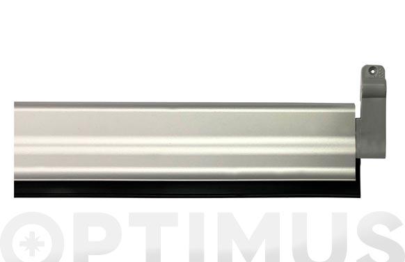Burlete bajo puerta aluminio/goma basculante 93 cm plata