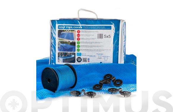 Cubierta malla para piscina leaf pool cover 6 x 10 m