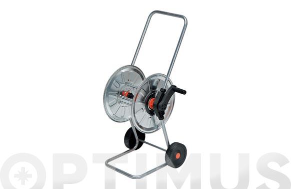 Carro portamanguera acero cincado  50mt 1/2' (no incluida)