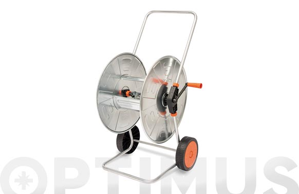 Carro portamanguera acero cincado 110 mt 1/2' (no incluida)