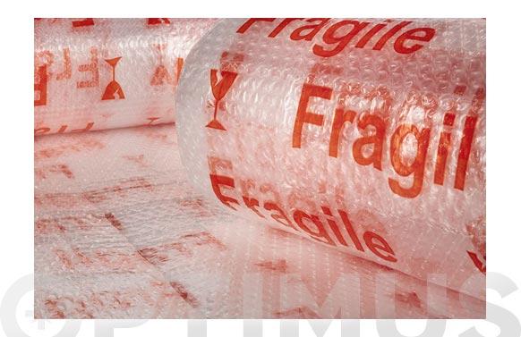 "Plastico de burbuja 40 gr/m2 ""fragil"" 1,2 x 10 m"