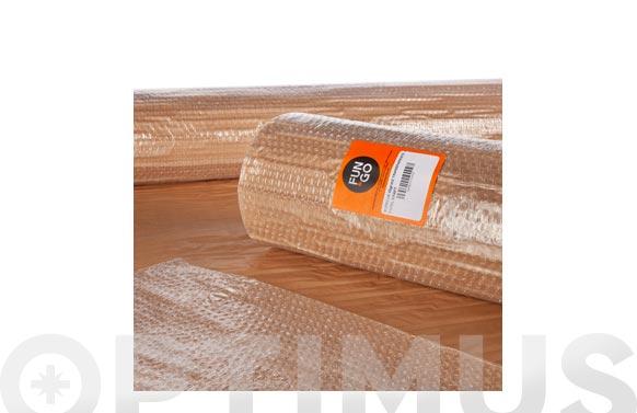 Plastico de burbuja 40 gr/m2 + papel kraff 1,2 x 10 m