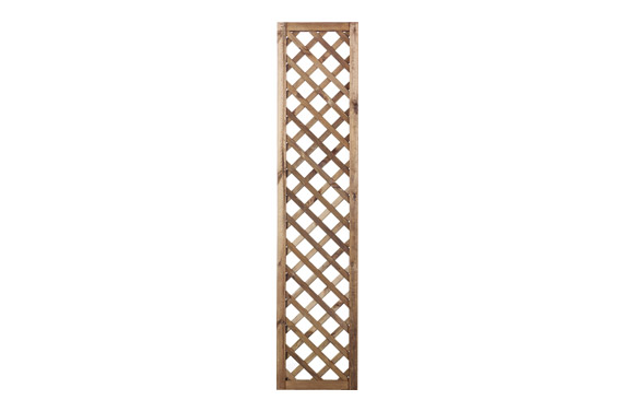 Celosia madera premices c/ marco marron 40 x 180 (luz 6x6)