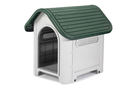 Caseta resina para perro beige/verde kira 59 x 75 x h66