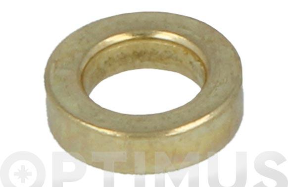 Arandela de pernio acero latonado 10 uds ø 11 mm