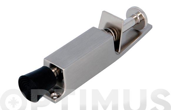 Retenedor de puertas de pie recorrido 28 mm cromo mate