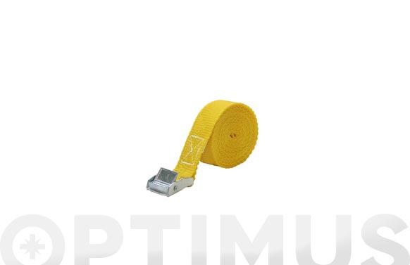 Trinquete amarre (bote 3 unidades) 25 mm - 3 m amarillo