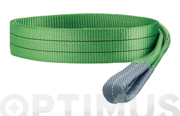 Eslinga plana doble 2 tn 60 mm/4 m verde