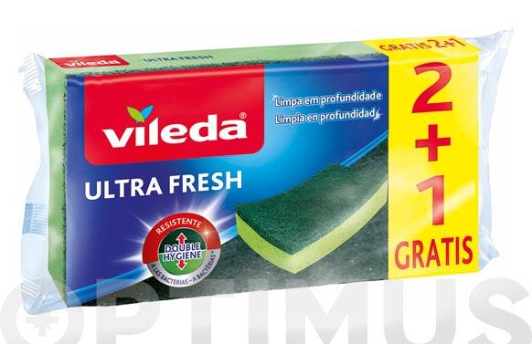 Estropajo 2+1  ultra fresh