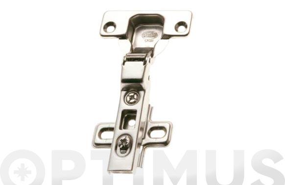 Bisagra de cazoleta acodada con clip modelo 4100 110. ø 35 mm niquel 2 uds
