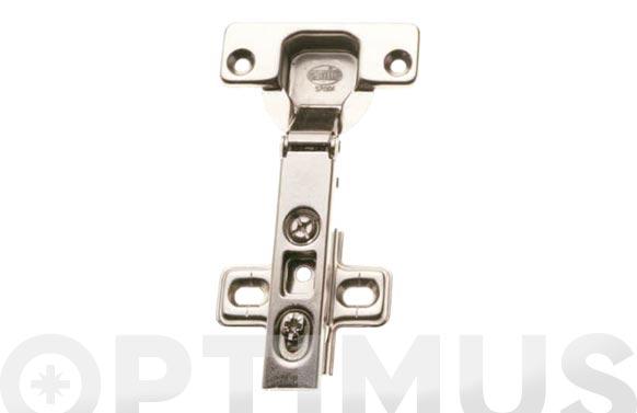 Bisagra de cazoleta recta con clip modelo 4000 110. ø 35 mm niquel 2 uds