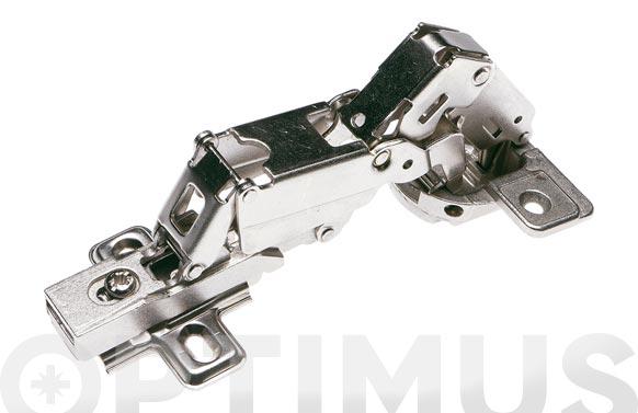 Bisagra de cazoleta recta con clip modelo 4210 170. ø 35 mm niquel