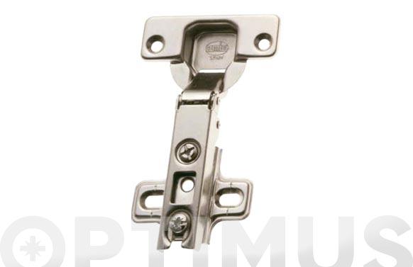 Bisagra de cazoleta recta modelo 4500 110. ø 35 mm niquel 2 uds