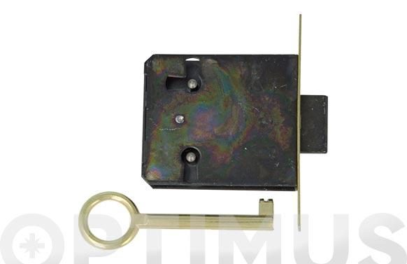 Cerradura mueble embutir modelo 8 25 mm laton