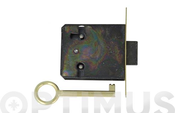 Cerradura mueble embutir modelo 8 30 mm laton