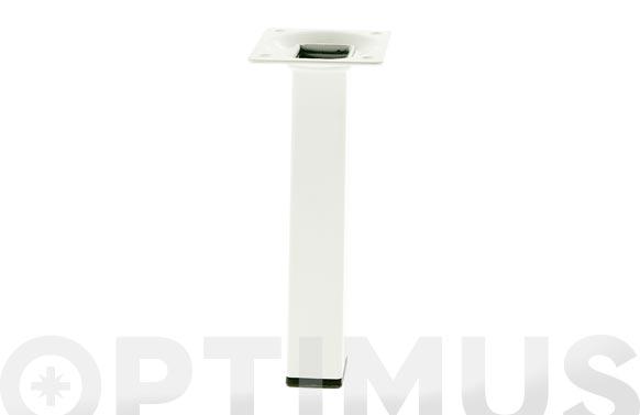 Pata para mesa cuadrada modelo 3 acero blanco 25 x 25 x 200 mm