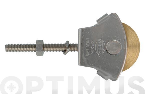 Polea tendedero con tornillo inox modelo 23 roldana ø 34 mm laton