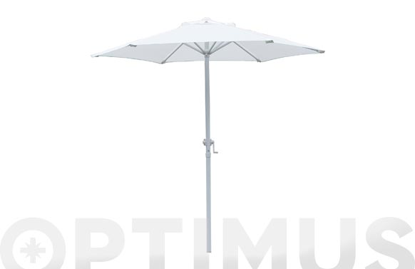 Parasol acero beige con manivela 200 cm tubo 36 mm