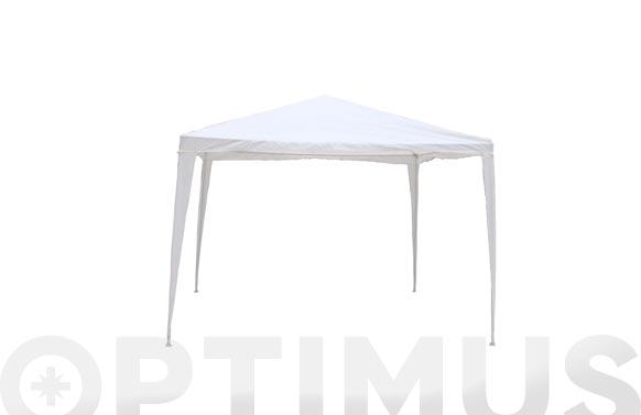 Velador rafia 3x3 m blanco
