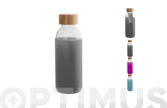Botella vidrio tapon madera 0,4 l surtidas
