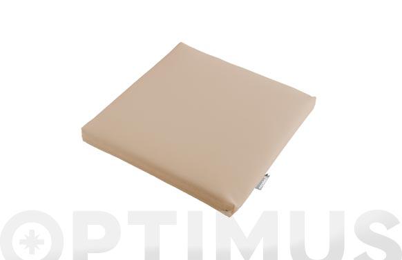 Cojin asiento aqua beige 45 x 45 x 6 cm