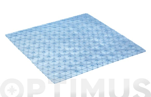 Alfombra baño antideslizante con ventosas diamond 54 x 54 cm agua